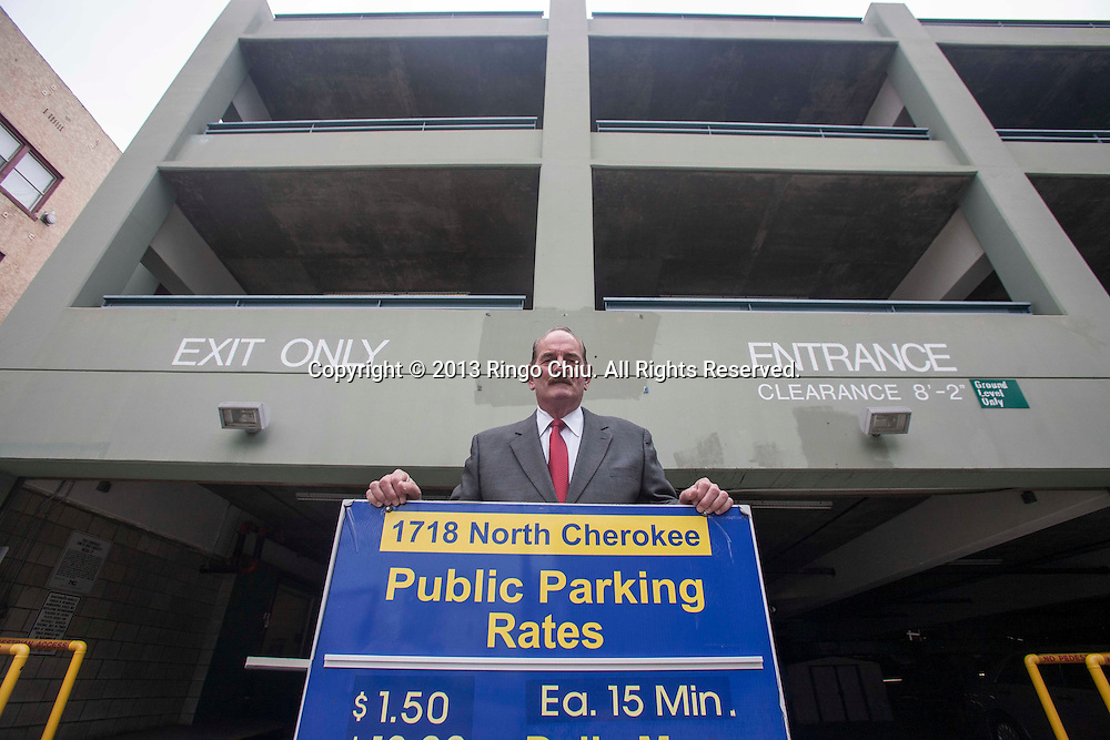 Robert Hindle, vice president with Parking Concepts Inc., at a parking structure at 1710 N. Cherokee Ave. Hollywood. (Photo by Ringo Chiu/PHOTOFORMULA.com)