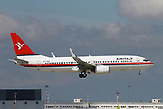 EI-FNU AirItaly Boeing 737 Next Gen passenger jet at takeoff Photographed at Malpensa Airport, Milan, Italy