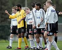 Fotball / Football<br /> La Manga - Spain<br /> 21.02.2007<br /> Odd Grenland v Start 1-4<br /> Foto: Morten Olsen, Digitalsport<br /> <br /> David Nielsen - Start i Odd-muren<br /> L-R: Jan Tore Amundsen - Jacob Sørensen (19) - Tarjej Dale (20) - Olof Hviden-Watson (9) - Tommy Svindal Larsen - Torjus Hansen