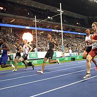 14.02.2020, Mercedes Benz Arena, Berlin, GER, ISTAF-Indoor 2020 Berlin, im Bild <br /> 60m Men<br /> Emre Zafar Barnes (TUR)<br /> <br />      <br /> Foto © nordphoto / Engler