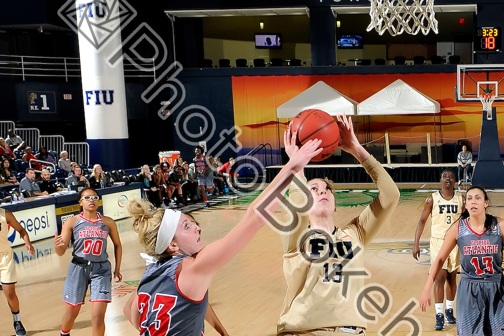 2016 February 27 - FIU's Janka Hegedus (13). <br /> Florida International University fell to Florida Atlantic University, 52-63, at Lime Court, in the FIU Arena, Miami, Florida. (Photo by: Alex J. Hernandez / photobokeh.com) This image is copyright by PhotoBokeh.com and may not be reproduced or retransmitted without express written consent of PhotoBokeh.com. ©2016 PhotoBokeh.com - All Rights Reserved