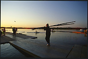 Sydney. AUSTRALIA. 2000 Summer Olympic Regatta, Penrith. NSW.  <br /> <br /> General View GV. Boating Area. Sunrise at the  Sydney International Regatta Centre (SIRC), as crews boat to start there training sessions.<br /> <br /> [Mandatory Credit Peter SPURRIER/ Intersport Images] Sydney International Regatta Centre (SIRC) 2000 Olympic Rowing Regatta00085138.tif