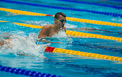October 5, 2018 - Budapest, Hungary - Cseh Lászlo of Hungary in the Mens 200m Individual Medley on day two of the FINA Swimming World Cup held at Duna Arena Swimming Stadium on Okt 05, 2018 in Budapest, Hungary. (Credit Image: © Robert Szaniszlo/NurPhoto/ZUMA Press)