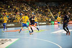 Tadej Kljun during handball match between RK Celje Pivovarna Lasko (SLO) and Paris Saint-Germain HB (FRA) in VELUX EHF Champions League 2018/19, on February 24, 2019 in Arena Zlatorog, Celje, Slovenia. Photo by Peter Podobnik / Sportida