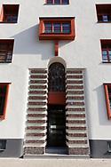 the Naumann housing estate in the district Riehl, built in the years 1927-1929, entrance door, Cologne, Germany.<br /> <br /> die Naumannsiedlung im Stadtteil Riehl, in den Jahren 1927-1929 erbaut, Hauseingang,  Koeln, Deutschland.