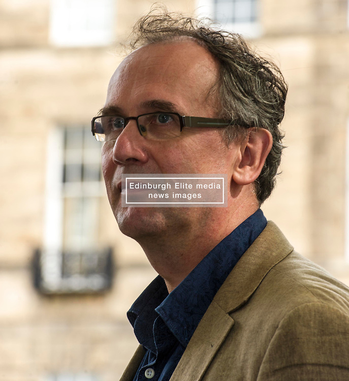 Pictured: Volker Kutscher is a German journalist and writer <br /> Book fanatics headed to Charlotte Square in Edinburgh which is the hub of the international Book Festival to meet the authors and also to meet up with fellow fans of the printed word.<br /> <br /> <br /> Ger Harley   EEm 21 August 2017