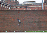A possible Banksy artwork depicting an escaping inmate at HM Prison Reading, Reading, United Kingdom on 1 March 2021.