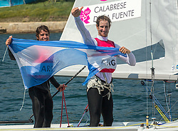 10.08.2012, Bucht von Weymouth, GBR, Olympia 2012, Segeln, im Bild BRONZE:.Calabrese Lucas, de la Fuente Juan, (ARG, 470 Men) // during Sailing, at the 2012 Summer Olympics at Bay of Weymouth, United Kingdom on 2012/08/10. EXPA Pictures © 2012, PhotoCredit: EXPA/ Daniel Forster ***** ATTENTION for AUT, CRO, GER, FIN, NOR, NED, .POL, SLO and SWE ONLY!