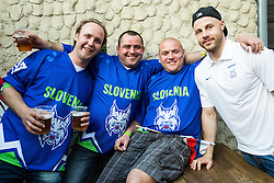 Jan Mursak of Slovenia of Slovenian Ice Hockey National Team at meeting with their supporters at day off during 2015 IIHF World Championship, on May 9, 2015 in Restaurant Zadni Vratka, Stodolni Street, Ostrava, Czech Republic. Photo by Vid Ponikvar / Sportida