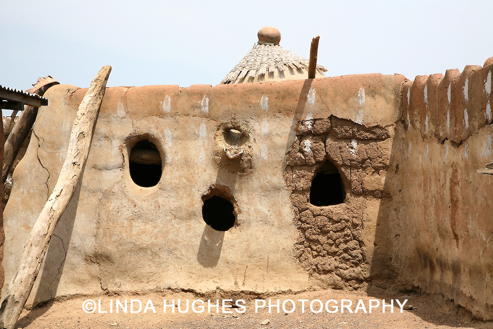 Adobe Home in the Upper West Region of Accra Ghana Africa