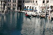 USA, Nevada, Las Vegas Gondolas at the Venetian Resort hotel