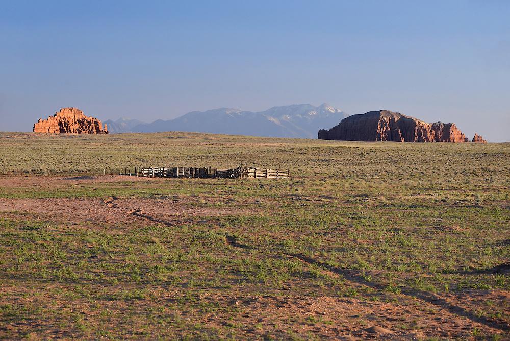 Corral in the San Rafael Desert, Utah.
