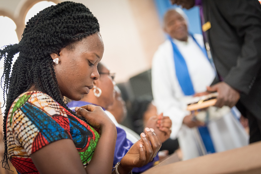 """11 March 2018, Arusha, Tanzania: In a spirit of vibrant hospitality, the Christ Church Cathedral of Mount Kilimanjaro Diocese, Arusha, Tanzania celebrated mass on 11 March, inviting fellow Christians from around the world currently participating in the WCC Conference on World Mission and Evangelism. <br /> <br /> The cathedral, whose location in central Arusha historically marked the mid-point between Cape Town (South Africa) and Cairo (Egypt), has a long history as a central worship point for a mixture of local and international congregants. <br /> <br /> Reflecting the call to mission, the church is active in the areas of Education and Health, and sponsors schools, hospitals, as well as charity work. With a particular focus on children, the church organizes a weekly """"Compassion Saturday"""", where children are welcomed to the church for Christian teachings, food and other support. <br /> <br /> Welcoming the international visitors to an African worship experience, the service combined traditional aspects of the Anglican liturgy with contemporary African charisma, through choirs and dance."""