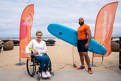 Roy Meyer, Ambassador Olympic Festival and Esther Vergeer, chef de mission Paralympic TeamNL during the launch TeamNL Olympic Festival on June 23, 2021 in The Hague