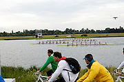 UK, August 1 2012: Team GB's Men's Eights team move into the lead at the 1250m mark during the final at the London 2012 Rowing venue at Eton Dorney. The team would ultimately finish in third place, behind winners Germany and Canada.  Copyright 2012 Peter Horrell.