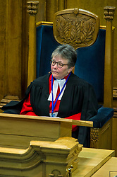 Pictured: The Right Reverend Susan M. Brown BD DipMin 2018 Moderator was elected at the opening of the Assembly<br /> <br /> The 2018 General Assembly of the Church of Scotland begins.This year's annual gathering runs until Friday May 25<br /> <br /> Ger Harley   EEm 19 May 2018