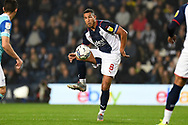 West Bromwich Albion midfielder Jake Livermore (8) controls during the EFL Sky Bet Championship match between West Bromwich Albion and Derby County at The Hawthorns, West Bromwich, England on 14 September 2021.