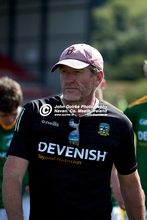 2021-7-10, 2020 All Ireland MFC Semi-Final at Pairc Esler, Newry.<br /> Meath v Derry<br /> Meath manager, John McCarthy<br /> Photo: David Mullen / www.quirke.ie ©John Quirke Photography, Proudstown Road Navan. Co. Meath. 046-9079044 / 087-2579454.<br /> ISO: 400; Shutter: 1/1600; Aperture: 4.5;