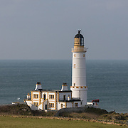Corsewall Point Lighthouse, a hotel as well as a functioning lighthouse, Dumfries and Galloway, Scotland.