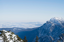 Scenic view of snowcapped mountain and sky