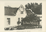 Morgenster Somerset West [Back and Details] From the book ' Eighteenth century architecture in South Africa ' by Geoffrey Eastcott Pearse. Published by A.A. Balkema, Cape Town in 1933 G. E. Pearse was among the first to bring Cape architecture to a wide audience in a scholarly way. Eighteenth Century Architecture in South Africa was the result of many years research on the topic and remains an important reference work for the subject.