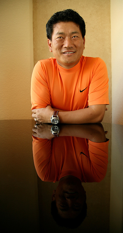 THE WOODLANDS, TX - FEBRUARY 28:  Golfer K.J. Choi poses for a portrait at his home on February 28, 2008 in The Woodlands, Texas. (Photo by Darren Carroll/Getty Images) *** Local Caption *** K.J. Choi