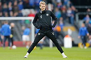 Fulham forward Andre Schurrle (14) warming up before The FA Cup 3rd round match between Fulham and Oldham Athletic at Craven Cottage, London, England on 6 January 2019.