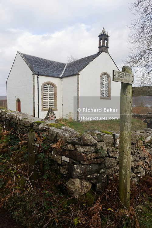 The Thomas Telford-designed church on Ulva, Isle of Mull, Scotland. The Telford Church, Ardalum Ulva. The church was designed by Thomas Telford and built between 1827 and 1828 for a cost of £1,500. Dedicated to St. Ewan of Arstraw the nearest wing has now been partitioned off for use for worship. The remainder of the building is used as a community hall. The church boasts that in 1847 everyone on Ulva attended services including one catholic and one atheist. Isle of Ulva, Inner Hebrides. Ulva is a privately owned island with a thriving population of approximately 16 people who are involved variously in traditional sheep and cattle farming, fish farming, oyster farming and tourism. There are no tarmac roads on Ulva, so the main form of transport is quad bikes used by all inhabitants, young and old. The proprietors (the Howard family) are dedicated to creating a balance between the needs of the community and the preservation of one of Scotland's most unique, beautiful and accessible islands...This Parliamentary church was one of five churches on Mull and Iona to be designed by Thomas Telford and was completed, along with the manse, in 1828. In the mid 1950s Lady Congleton who owned the island purchased the church and the larger partof it was converted into a community hall. Only the north west portion was retained for ecclesiastical use. The church is now privately owed and a couple of services are conducted every year at Easter and Harvest time