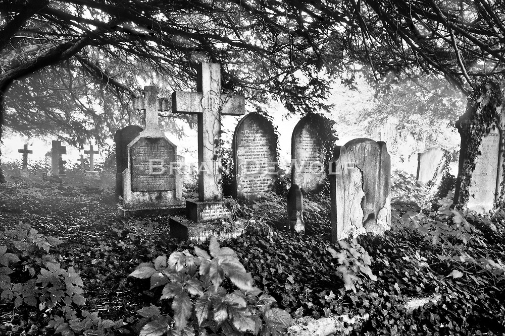 Graves in St. Mary's Church Cemetery, Wendover England.  Aspect Ratio 1w x 0.667h
