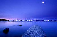 Colorful sunset over Lake Tahoe, CA