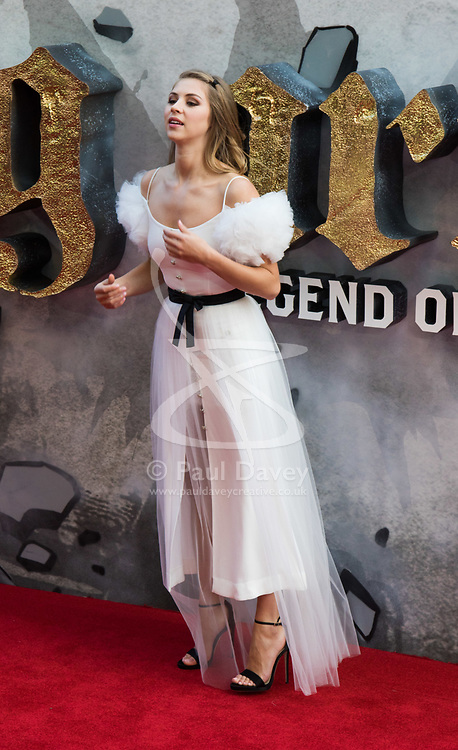 London, May 10th 2017. Hermoine Corfield attends the European premiere of King Arthur - Legend of the Sword at the Cineworld Empire in Leicester Square.