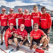 © Maria Muina I MAPFRE. MAPFRE sailing crew for Leg 3 in Cape Town. Tripulación para la etapa 3 en Cape Town.