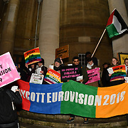 BDS Movement Love Eurovision song Boycott Israelis Eurovision, London, UK