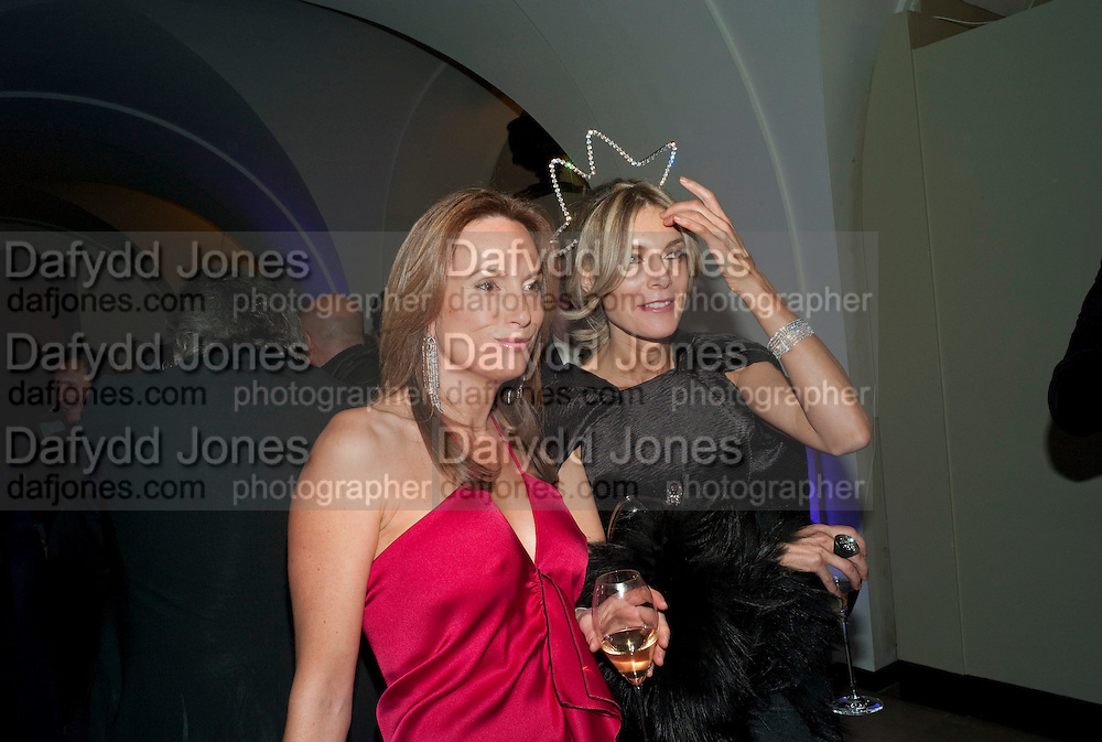 EMILY OPPENHEIM TURNER; KIM HERSOV, The Surrealist Ball in aid of the NSPCC. Hosted by Lucy Yeomans and Harry Blain. Banqueting House. Whitehall. 17 March 2011. -DO NOT ARCHIVE-© Copyright Photograph by Dafydd Jones. 248 Clapham Rd. London SW9 0PZ. Tel 0207 820 0771. www.dafjones.com.