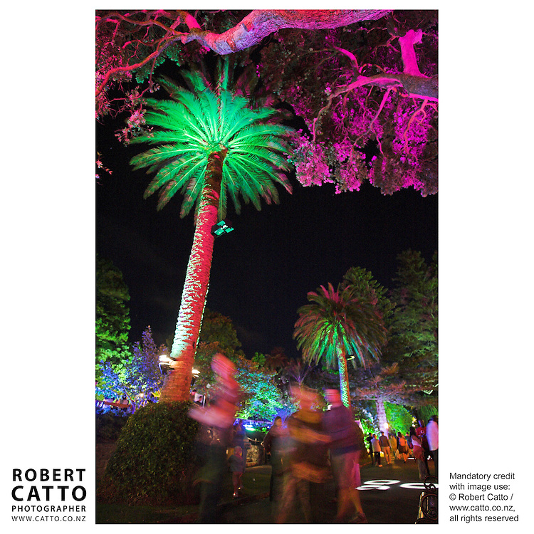 Every year in January, the Wellington Botanic Gardens are lit by Michael Farrand of MJF Lighting, as part of the city's Summer City Festival.
