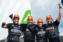 190707 Essiq Racing Team of Sweden with skipper Nicklas Dackhammar celebrates during day five of Match Cup Sweden on July 7, 2019 in Marstrand.<br />