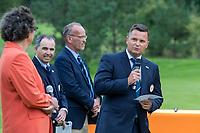 HILVERSUM -Haukur Örn Birgisson, president EGA.   Prizewinning ceremony.    ELTK Golf 2020 The Dutch Golf Federation (NGF), The European Golf Federation (EGA) and the Hilversumsche Golf Club will organize Team European Championships for men.  COPYRIGHT KOEN SUYK