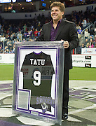 Former Dallas Sidekick player and current head coach Tatu has his jersey retired at the Allen Event Center on Saturday, February 9, 2013 in Little Elm, Texas. (Cooper Neill/The Dallas Morning News)