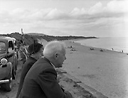 01/02/1957<br /> 02/01/1957<br /> 01 February 1957<br /> View of Beach at Courtown Co Wexford.