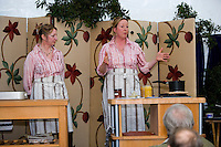 Demonstrators talking about making marmalade at a country show