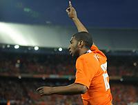 Fotball<br /> Nederland / Holland v Ukraina<br /> Foto: Witters/Digitalsport<br /> NORWAY ONLY<br /> <br /> 24.05.2008<br /> <br /> Jubel 3:0 Ryan Babel Niederlande<br /> Fussball Niederlande - Ukraine 3:0