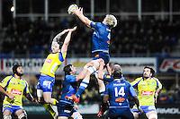 Zac Guildford / Richie Gray  - 20.12.2014 - Clermont / Castres - 13eme journee de Top 14 -<br /> Photo : Jean Paul Thomas / Icon Sport