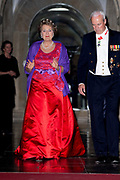 Galadiner voor het Corps Diplomatique in het Koninklijk Paleis in Amsterdam // Gala dinner for the Corps Diplomatique at the Royal Palace in Amsterdam<br /> <br /> Op de foto:  Prinses Margriet
