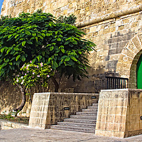Corner of the Auberge de Castile in Valletta, Malta.