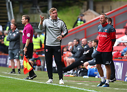 September 23, 2017 - London, United Kingdom - L-R Charlton Athletic manager Karl Robinson  and Asst manager Lee Boyer.during Sky Bet  League One match between Charlton Athletic against Bury at The Valley Stadium London on 23 Sept 2017  (Credit Image: © Kieran Galvin/NurPhoto via ZUMA Press)