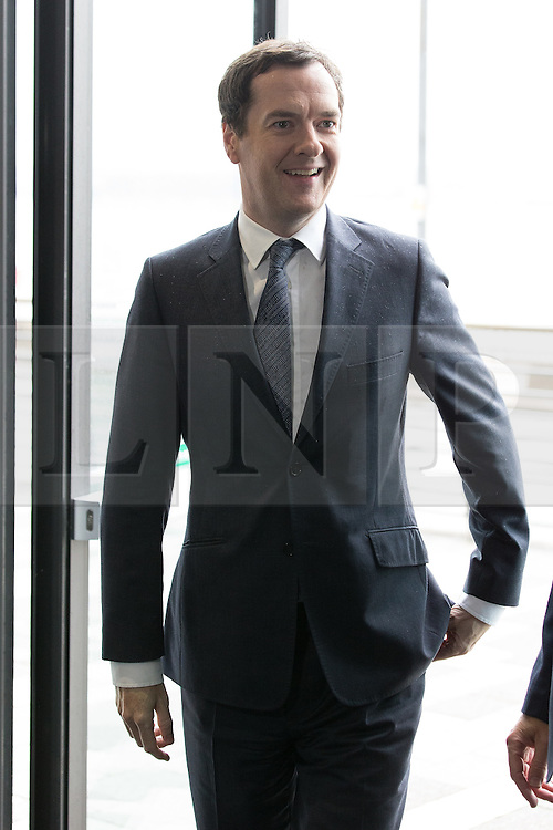 © Licensed to London News Pictures . 13/06/2016 . Liverpool , UK . Chancellor of the Exchequer , GEORGE OSBORNE , arrives to speak at the International Festival for Business at the Liverpool Exhibition Centre . Photo credit: Joel Goodman/LNP