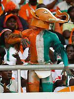 Photo: Steve Bond/Richard Lane Photography.<br />Nigeria v Ivory Coast. Africa Cup of Nations. 21/01/2008. Ivory Coast fan