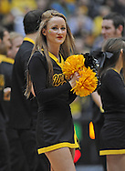 WICHITA, KS - JANUARY 05:  A Wichita State Shockers cheerleader performs during a game against the Northern Iowa Panthers during the first half on January 5, 2014 at Charles Koch Arena in Wichita, Kansas.  (Photo by Peter G. Aiken/Getty Images) *** Local Caption ***