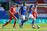 Cardiff City's Kieffer Moore (10) in action during the EFL Sky Bet Championship match between Cardiff City and Nottingham Forest at the Cardiff City Stadium, Cardiff, Wales on 2 April 2021.