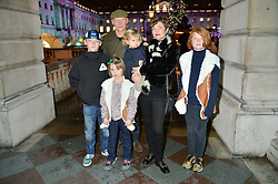 CAMILLA RUTHERFORD and DOMINIC BURNS with her children HECTOR, MAUD, NANCY, BLAISE at Skate At Somerset House with Fortnum & Mason on 16th November 2016.